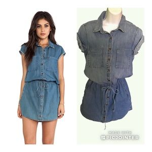 "Paige Mila Denim Shirt Dress Size XS ""Flawed"""